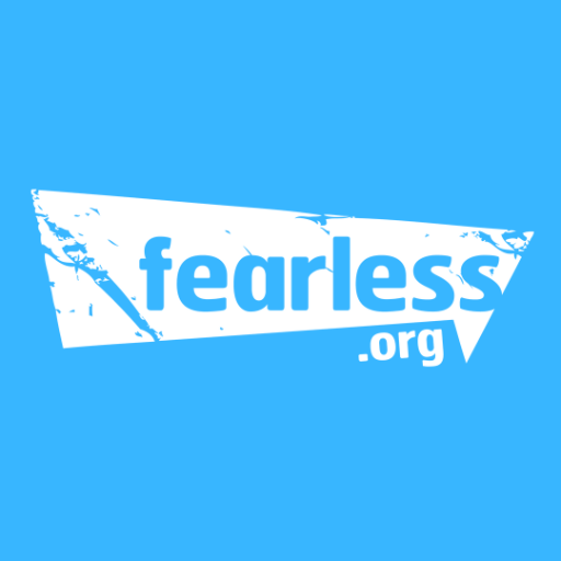 The logo for Fearless